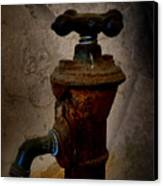 Vintage Water Faucet Canvas Print by Heinz G Mielke