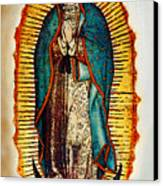 Virgen De Guadalupe Canvas Print by Bibi Romer
