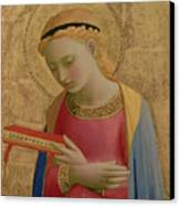 Virgin Annunciate Canvas Print by Fra Angelico