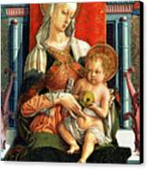 Virgin Mary And Child Canvas Print by Carlo Crivelli