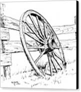 Wagon Wheel Canvas Print by Bob Hallmark