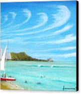Waikiki Canvas Print by Jerome Stumphauzer