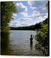 Walden Pond  Canvas Print by Rae Breaux