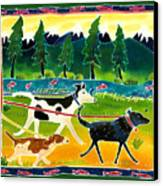 Walk The Dogs Canvas Print by Harriet Peck Taylor
