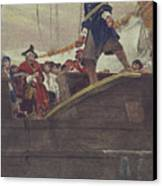 Walking The Plank Canvas Print by Howard Pyle