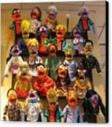 Wall Of Muppets Canvas Print by Choi Ling Blakey