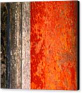 Wall With Red By Michael Fitzpatrick Canvas Print by Mexicolors Art Photography