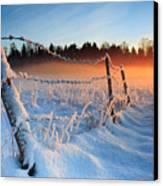 Warm Cold Winter Sunset Canvas Print by Romeo Koitmae