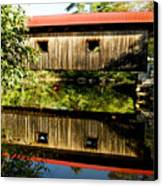 Warner Covered Bridge Canvas Print by Greg Fortier