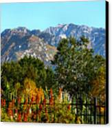 Wasatch Mountains In Autumn Canvas Print by Tracie Kaska