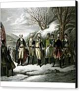 Washington And His Generals  Canvas Print by War Is Hell Store