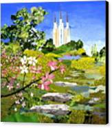 Washington Dc Temple Canvas Print by Robin Birrell