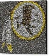 Washington Redskins Coins Mosaic Canvas Print by Paul Van Scott