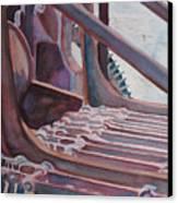 Washroom Gears Canvas Print by Jenny Armitage