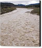 Water Flowing After Record-setting Canvas Print by Rich Reid
