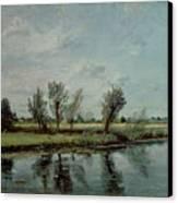 Water Meadows Near Salisbury Canvas Print by John Constable