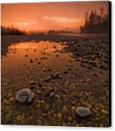 Water On Mars Canvas Print by Davorin Mance