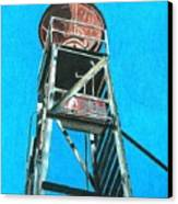 Water Tower Canvas Print by Glenda Zuckerman