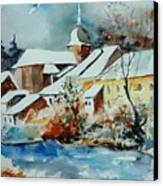 Watercolor Chassepierre Canvas Print by Pol Ledent