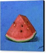 Watermelon Canvas Print by Nancy Otey