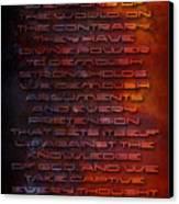 Weapons Canvas Print by Shevon Johnson