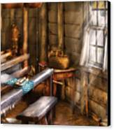 Weaver - The Weavers Room Canvas Print by Mike Savad