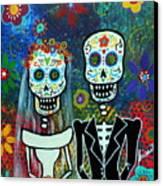 Wedding Muertos Canvas Print by Pristine Cartera Turkus