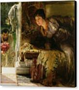 Welcome Footsteps Canvas Print by Sir Lawrence Alma-Tadema