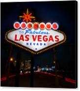 Welcome To Las Vegas Canvas Print by Steve Gadomski