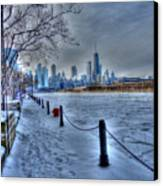 West From Navy Pier Canvas Print by David Bearden