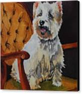 Westie Angel Dusty Canvas Print by Donna Pierce-Clark