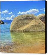 Whale Beach Lake Tahoe Canvas Print by Brad Scott