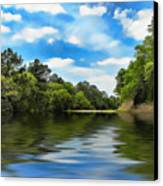 What I Remember About That Day On The River Canvas Print by Wendy J St Christopher