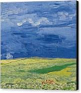 Wheatfields Under Thunderclouds Canvas Print by Vincent Van Gogh