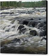 Wheelbarrow Falls Canvas Print by Larry Ricker