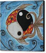 Whimsy Fish 3 Yin And Yang Canvas Print by Rain Ririn