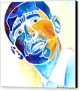 Whimzical Obama Canvas Print by Jo Lynch