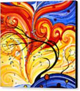 Whirlwind By Madart Canvas Print by Megan Duncanson