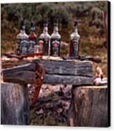 Whiskey And Guns Canvas Print by Leland D Howard