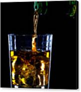 Whiskey Being Poured Canvas Print by Richard Thomas