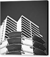 White Building To The Sky In Oahu Hawaii Canvas Print by Ryan Kelly