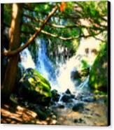White Falls Canvas Print by Perry Webster