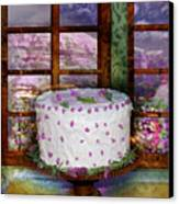 White Frosted Cake Canvas Print by Mary Ogle and Miki Klocke