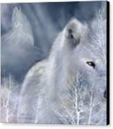 White Wolf Canvas Print by Carol Cavalaris