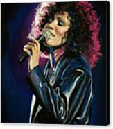 Whitney Houston Canvas Print by Tom Carlton