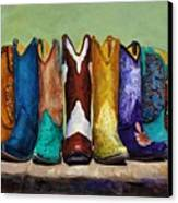 Why Real Men Want To Be Cowboys Canvas Print by Frances Marino