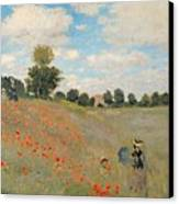 Wild Poppies Near Argenteuil Canvas Print by Claude Monet