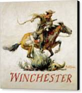 Winchester Horse And Rider  Canvas Print by Phillip R Goodwin