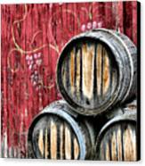 Wine Barrels Canvas Print by Doug Hockman Photography