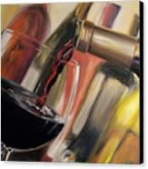 Wine Pour II Canvas Print by Donna Tuten
